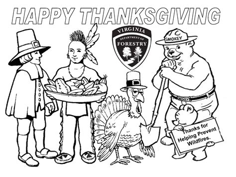 coloring page of smokey the bear thanksgiving smokey the bear coloring pages 30533