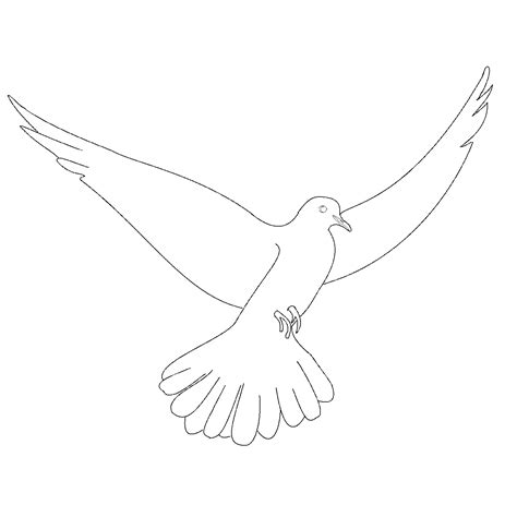 free a dove coloring pages