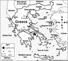 Historical Outline Map 7 Ancient Greece Answers by Map Of Greece Quiz Coloring Printout Enchantedlearning
