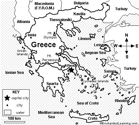 printable map of turkey and greece map of greece quiz coloring printout enchantedlearning com