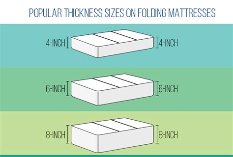 mattress size chart back to best folding mattresses 2018 top picks reviews and guide