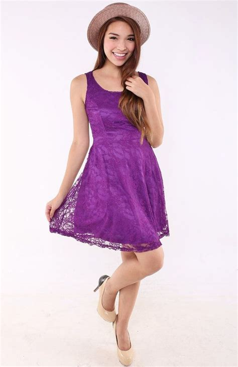 Dress Babydoll 508purple Bridesmaid Purple Babydoll Dress In Vintage Lace