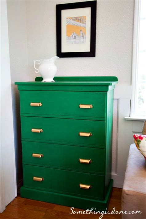 painted green dresser