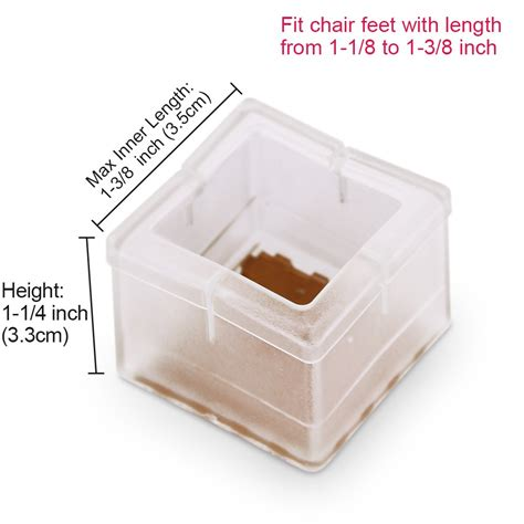 1 inch square chair leg floor protector galleon chair leg floor protectors anwenk 16 chair leg