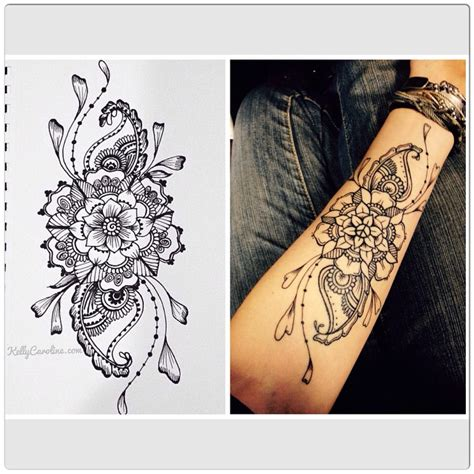 henna style flower tattoos check out this lovely permanent on theklemm
