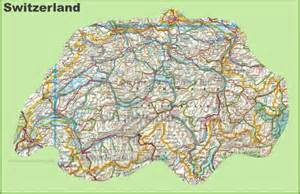 detailed map of cities and towns large detailed map of switzerland with cities and towns