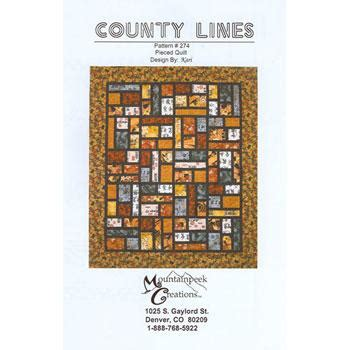 County Lines Quilt Pattern by County Lines 801223362193