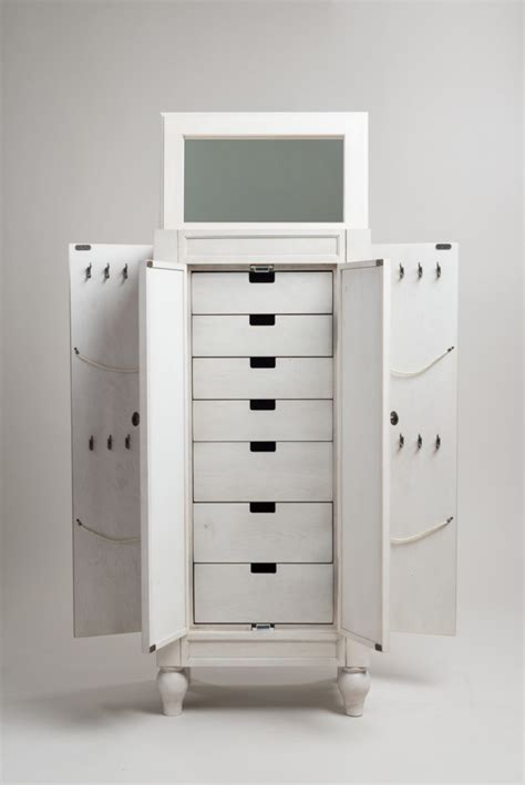jewelry armoire with lock and key small white jewelry armoire caymancode