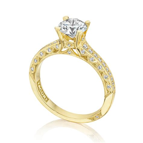 tacori crescent 18 karat engagement ring 2616rd65 tq