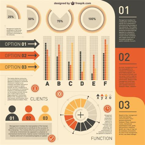 Clients Infographic In Yellow And Orange Vector Free Download Infographic Template Illustrator