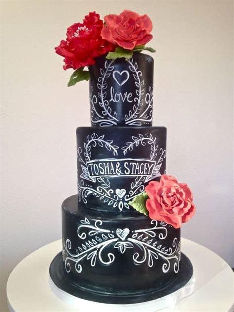 Hochzeitstorte 100 Personen by 18 Bolos De Casamento Efeito Lousa Ou Chalkboard