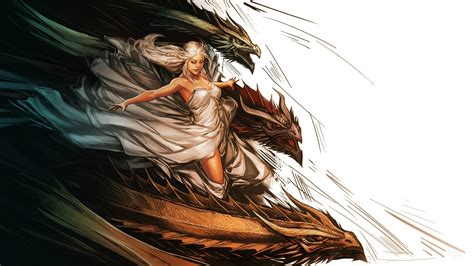 wallpaper game of thrones dragons daenerys targaryen and her dragons wallpaper