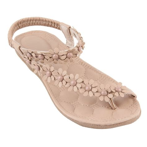 flat slippers for womens summer fashion casual floral flat shoes