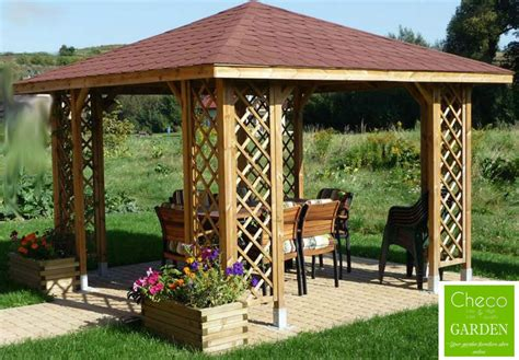 12x12 Wood Gazebo 3m X 3m External 12 Ft X 12 Ft Garden Wooden Pavilion