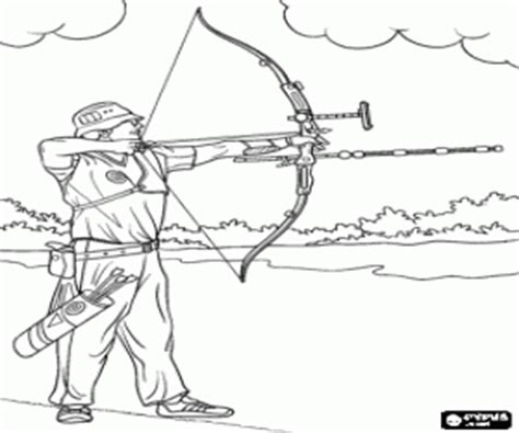 bow hunter coloring page shooting hunting and fishing coloring pages printable games