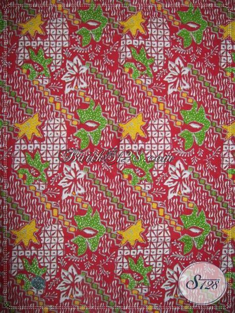 Kain Batik Warna Sogan Katun B91017003 Bahan Baju Batik Murah Terbaru kain batik warna merah harga murah bagus bahan katun halus adem model baju batik modern 2018