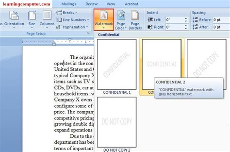 layout similar word microsoft word 2007 page layout tab