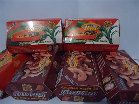 Sari Cosmetics Papaya Honey Soap Sabun Pepaya jual sabun herbal asantee harga dan detail