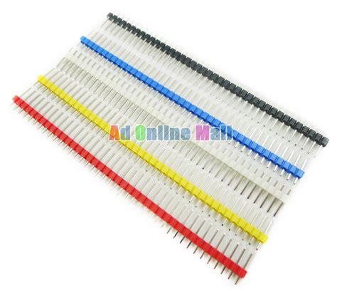 Pin Header 40p Single Row Arduino 1 1pcs 40p 2 54mm color single row pin header us19