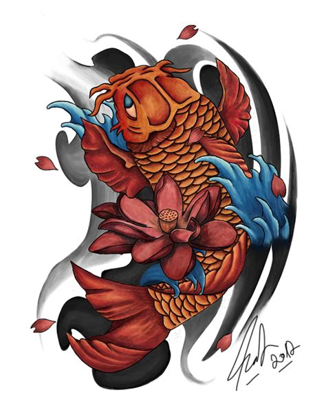 koi tattoo by amcdesign on deviantart