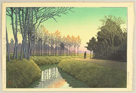Modern Wallpaper kawase hasui tamiya village artelino ukiyo e search