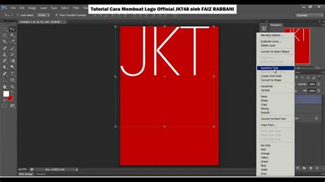 tutorial membuat logo di photoshop tutorial cara membuat logo jkt48 youtube