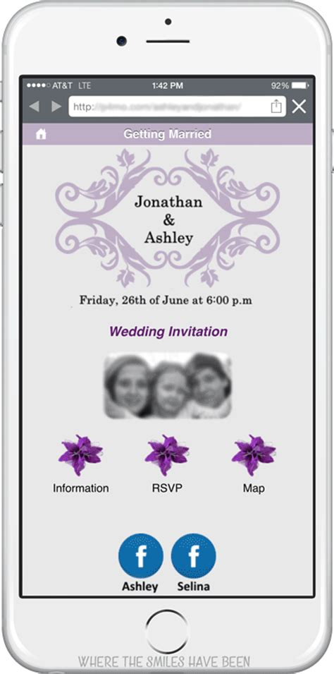 free mobile wedding invitations diy wedding invites with mobile app qr code free cut files