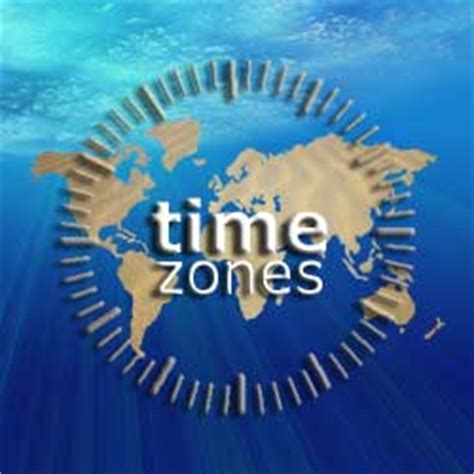 world time zones: international time zone map and global