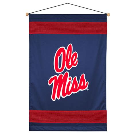 Ole Miss It Help Desk by Mississippi Ole Miss Rebels Sidelines Wall Hanging