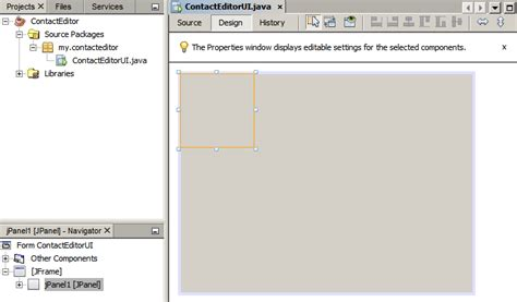 java layout resize components designing a swing gui in netbeans ide tutorial