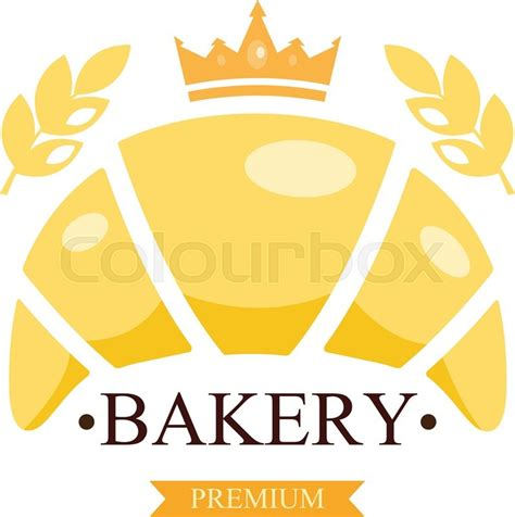 Or Logo Croissant Bakery Emblem Or Logo With Text Bakery Shop Stock Vector Colourbox
