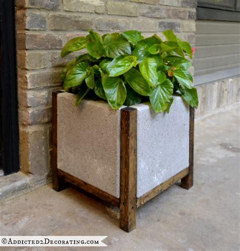 diy wood planter easy diy wood and concrete planter