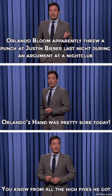 Orlando Bloom Meme - orlando bloom vs justin bieber punch gif