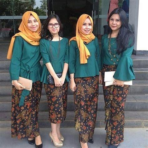 Kebaya Batik Kartini Rok Blus Baju Kerja Pakaian Pesta Setelan D1947 model kebaya modern terbaru rok batik panjang nyonya peranakan indonesia kebaya
