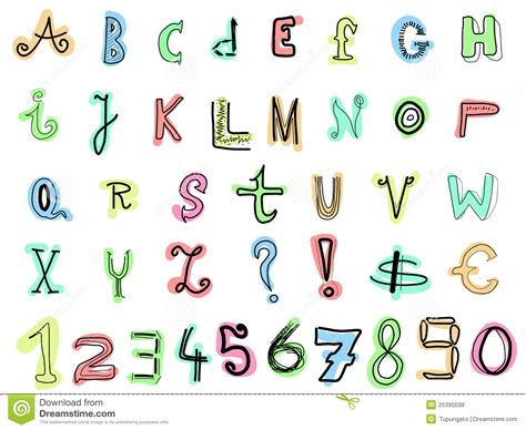 how to do doodle writing doodle letters royalty free stock photos image 25395038