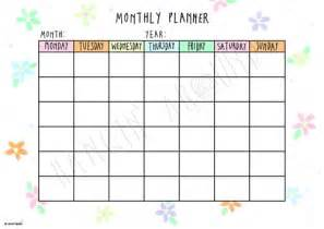 monthly planner floral printable hangin around