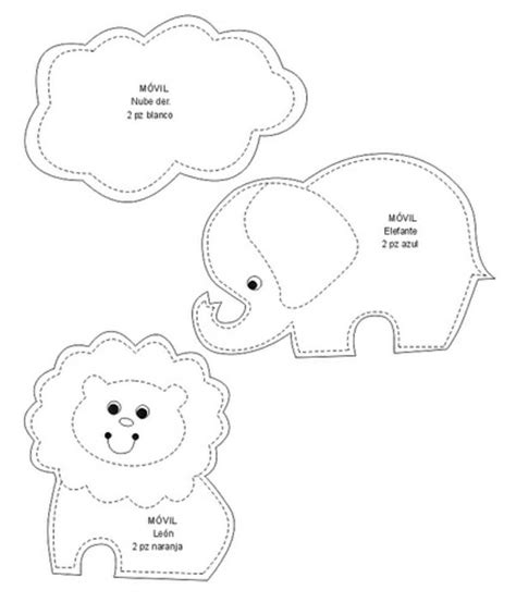 baby animal templates bastelideen mobile babybett vorlagen n 228 hen pinterest