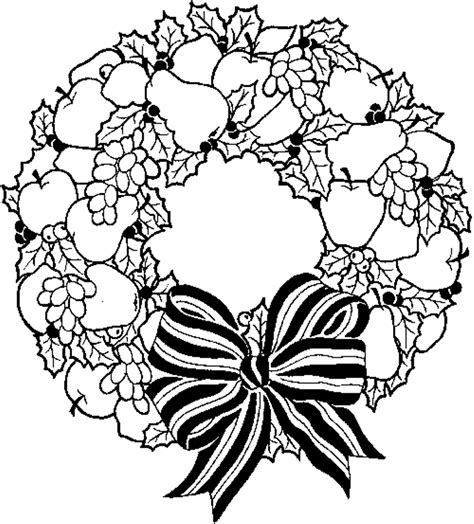 Coloring Pages Wreath With Bow Coloring Pages For Kids Wreath Coloring Page Shapes Worksheet