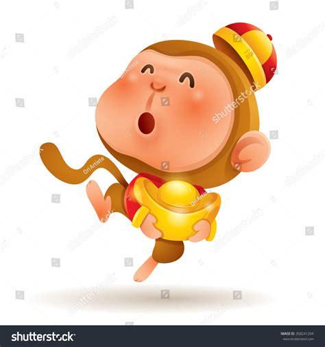 new year monkey animation zodiac monkey new year stock vector