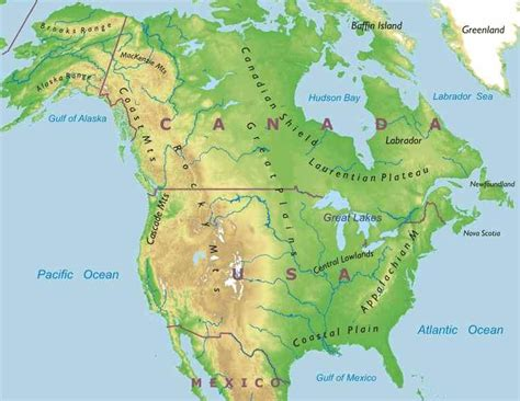 map of us east coast mountain ranges vasco frikis canada physical relief