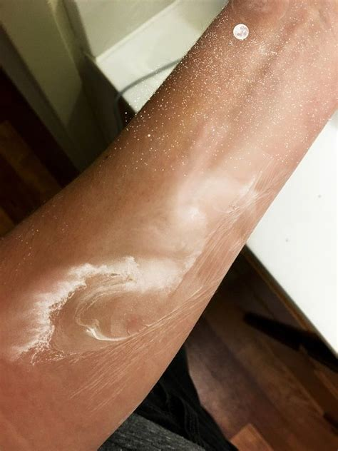 tattoo ink looks smudged a beautiful white wave tattoo the waves can be seen in