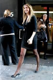 ivanka trump in sheer polka dot pantyhose tight black
