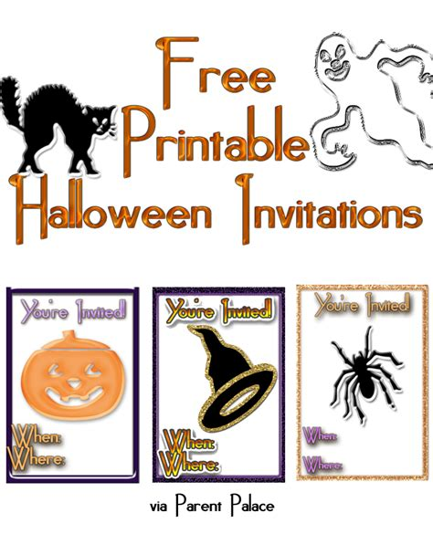 printable halloween invitations to color free online halloween party invitations