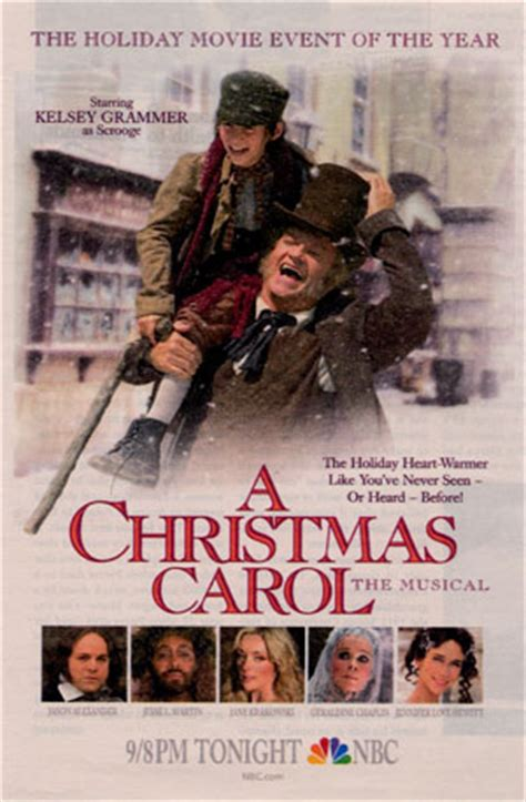 kelsey grammer a christmas carol musical reel to reel