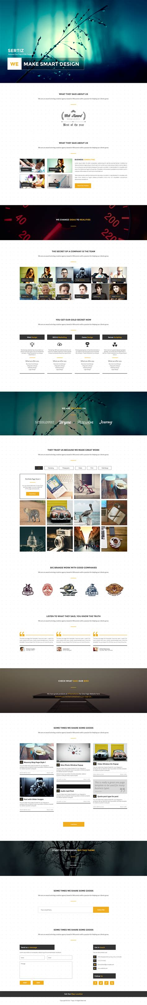 bootstrap layout for all devices sertin free bootstrap template onepage psd on behance