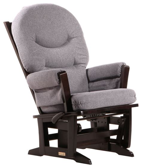 grey rocking recliner dutailier ultramotion espresso dark grey multiposition