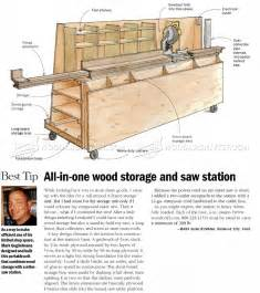 miter bench and storage wood storage and miter saw stand plans woodarchivist