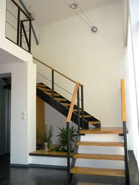 Platform Stairs Design Design Wood Steel And Platform On
