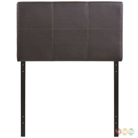 twin leather headboard oliver modern faux leather upholstered twin headboard brown