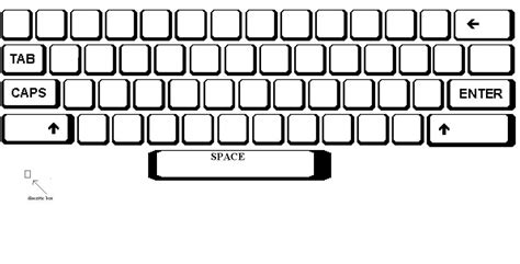 template of keyboard blank map of a qwerty keyboard as a template for keyboard